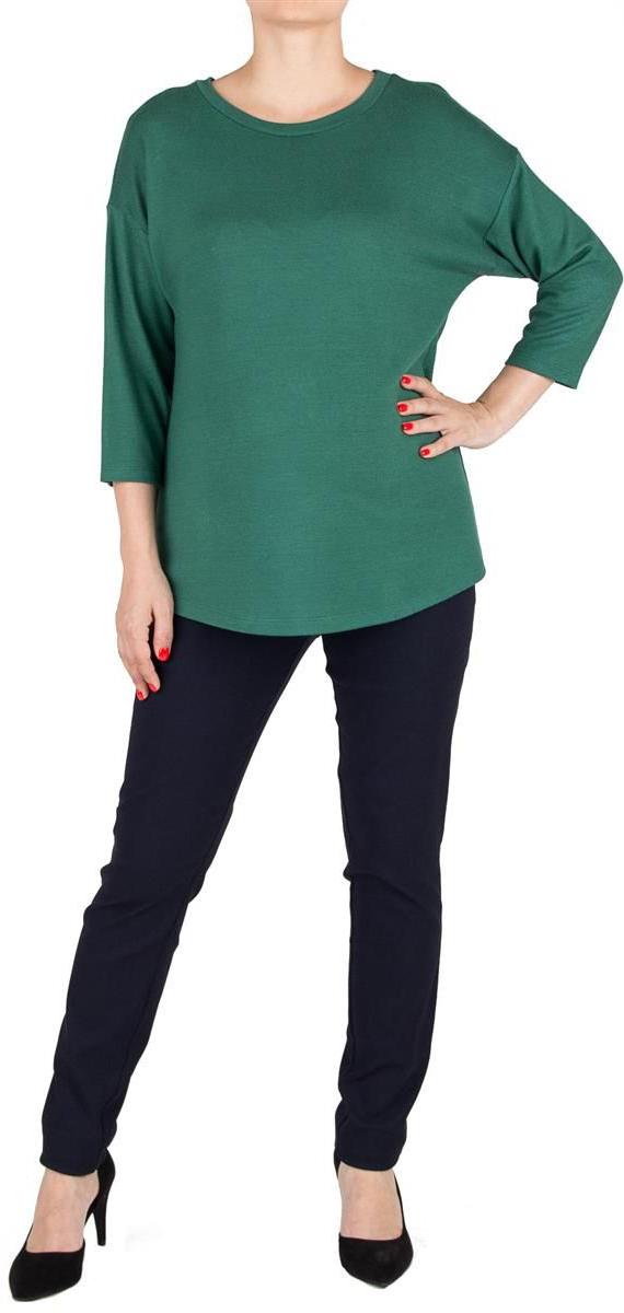 Джемпер для беременных Mammy Size, цвет: зеленый. 3504352174. Размер 483504352174Трикотажный джемпер Mammy Size свободного силуэта, со спущенным плечом и рукавом 3/4.