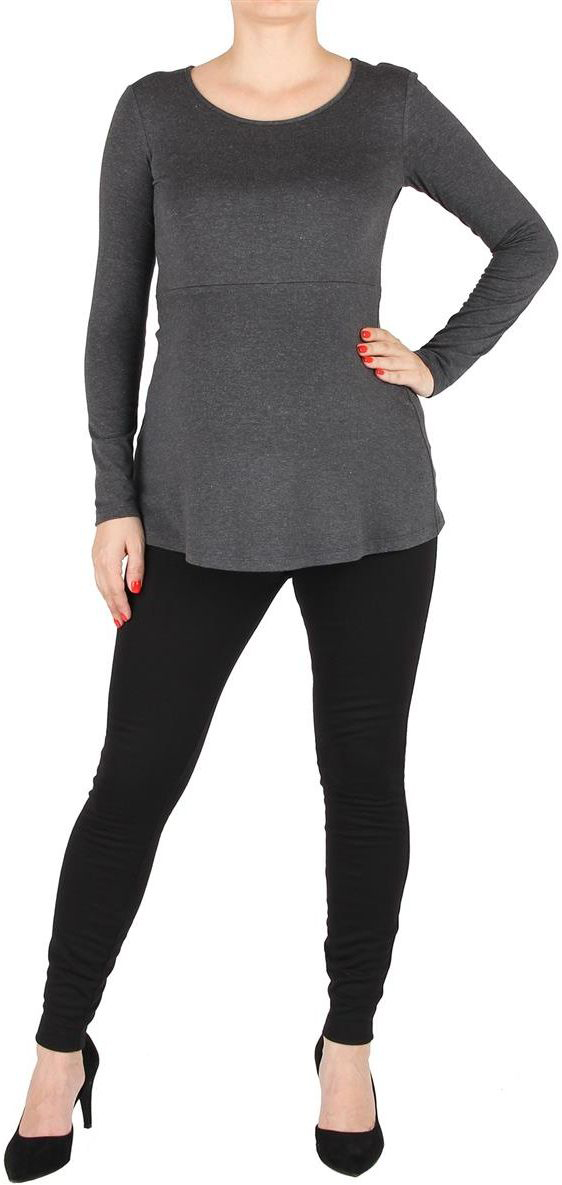 Блузка для беременных Mammy Size, цвет: серый. 3004382171. Размер 443004382171Блуза прилегающего силуэта, с длинным рукавом. Вырез горловины круглый. Линия талии завышена.