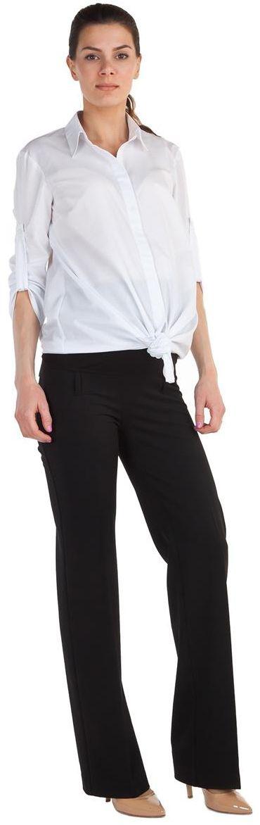 Брюки для беременных Mammy Size, цвет: черный. 1340321719. Размер 521340321719Брюки для беременных Mammy Size выполнены из вискозы, полиэстера и спандекса. Плотные, свободные классические брюки с удобной резинкой.