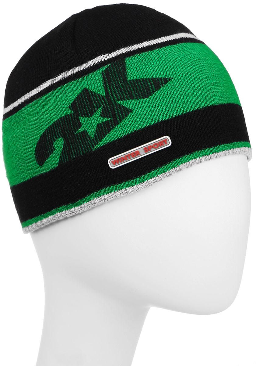 Шапка 2K Sport Nordic, цвет: черный, зеленый, светло-серый. 124024. Размер 58/60124024_black/green/silverСтильная вязаная шапка 2K Sport Nordic выполнена из высококачественного акрила.Шапка оформлена контрастными полосками, фирменным логотипом и декоративной нашивкой. Низ модели связан резинкой.Уважаемые клиенты!Размер, доступный для заказа, является обхватом головы.