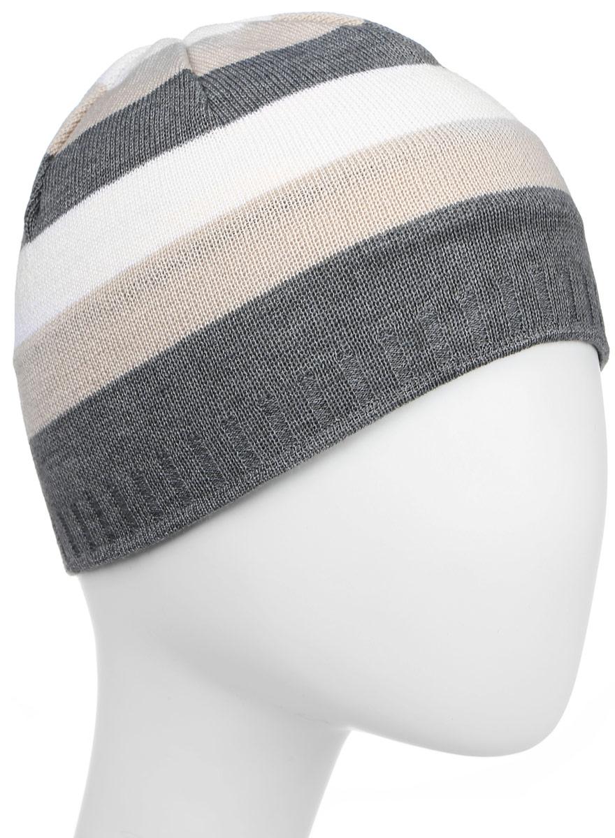 Шапка Kama Urban Beanies, цвет: серый, бежевый. A94_109. Размер универсальныйA94_109Классическая шапка из смесовой шерсти для сохранения тепла. Теплая шапка для активного отдыха и повседневной носки.