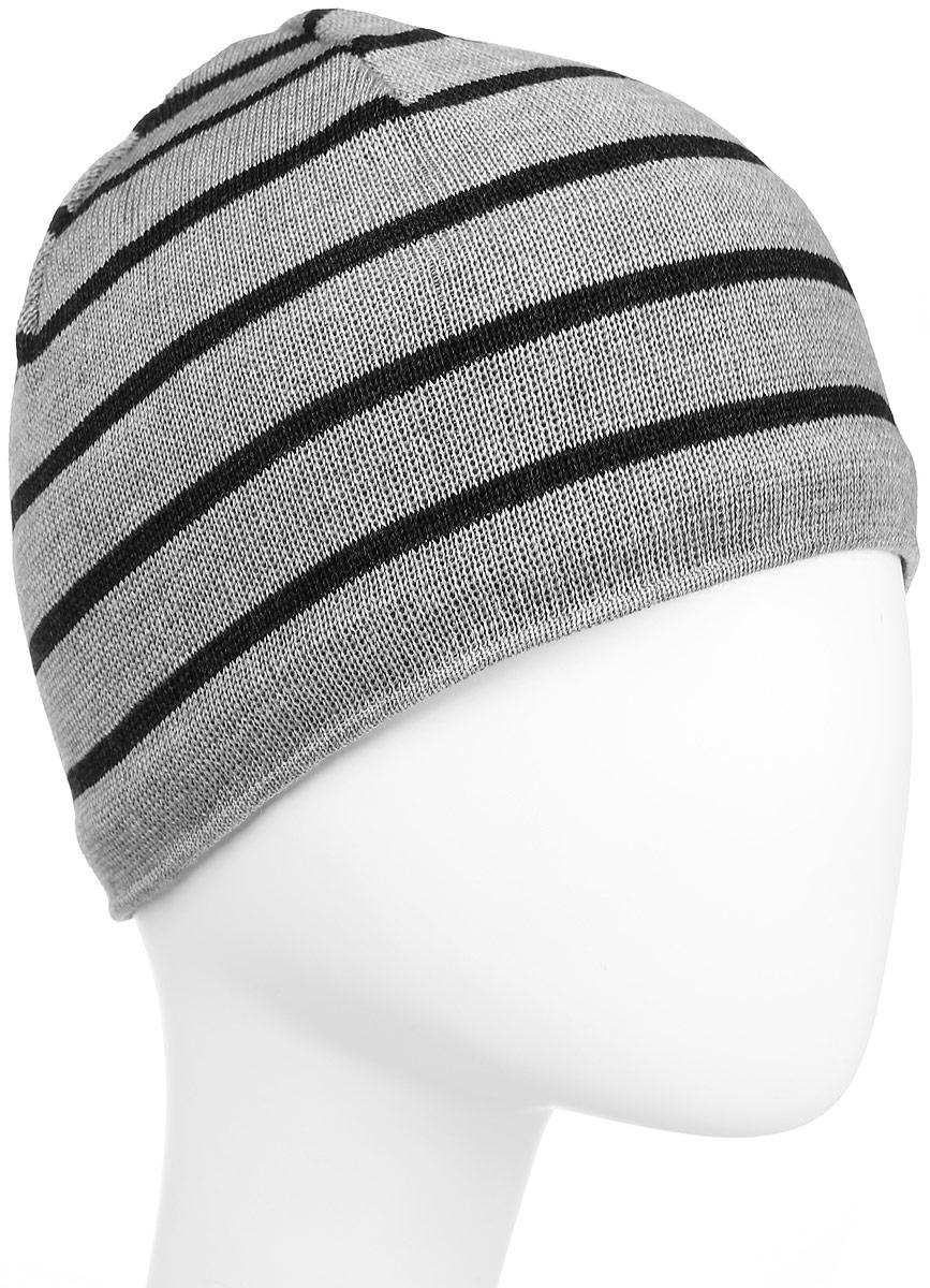 Шапка Kama Urban Beanies, цвет: серый. A77_109. Размер универсальныйA77_109Классическая шапка из 100% шерсти в полоску. Шерстяная шапка, с внутренней стороны изделия флисовая повязка для лучшего сохранения тепла.