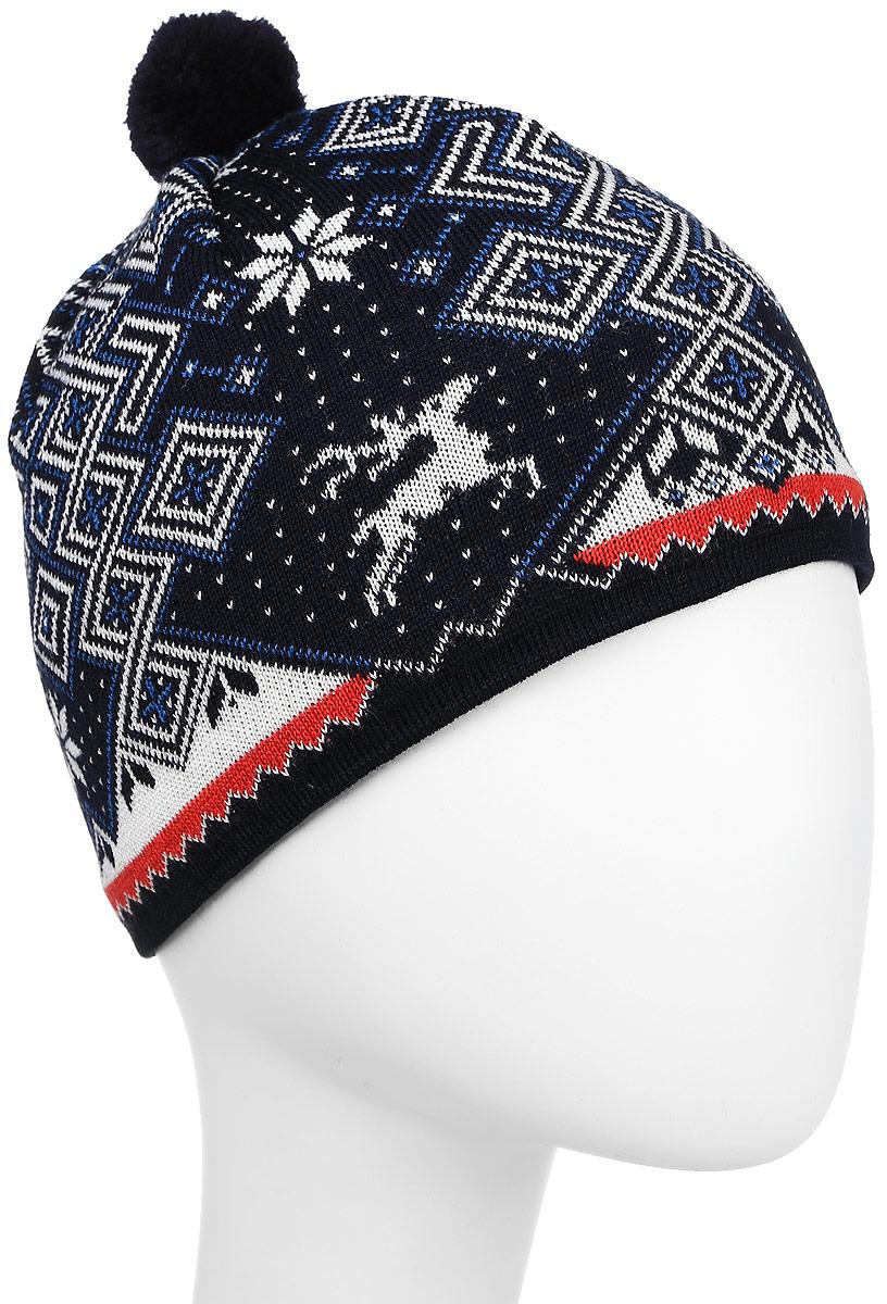Шапка Kama Cross-Country Beanies, цвет: синий. A58_108. Размер 58/60A58_108Теплая шапка с маленьким помпоном. Для лучшего сохранения тепла с внутренней стороны повязка, выполненная из нитей Thermolite.