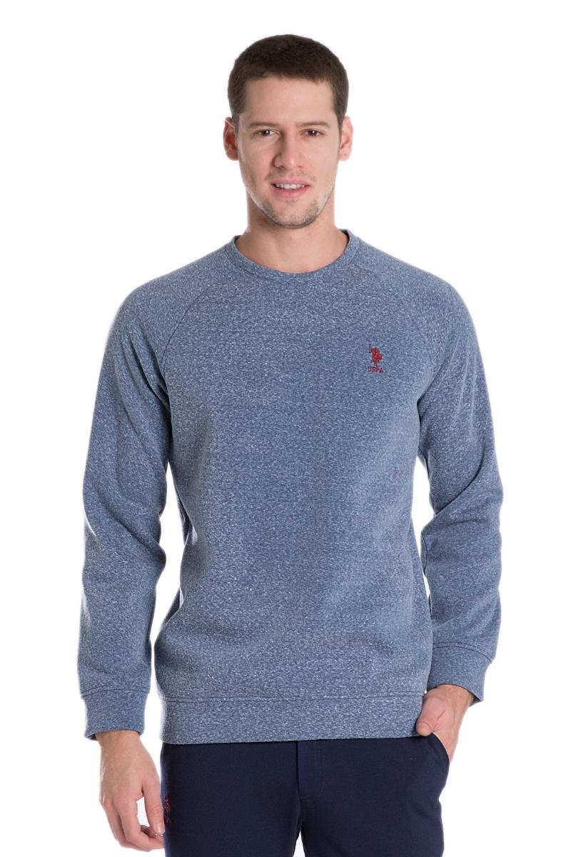 Свитшот мужской U.S. Polo Assn., цвет: темно-синий. G081GL0820BECK_VR033. Размер L (52)G081GL0820BECK_VR033Мужской свитшот с круглым вырезом горловины и длинными рукавами-реглан выполнен из высококачественного материала.