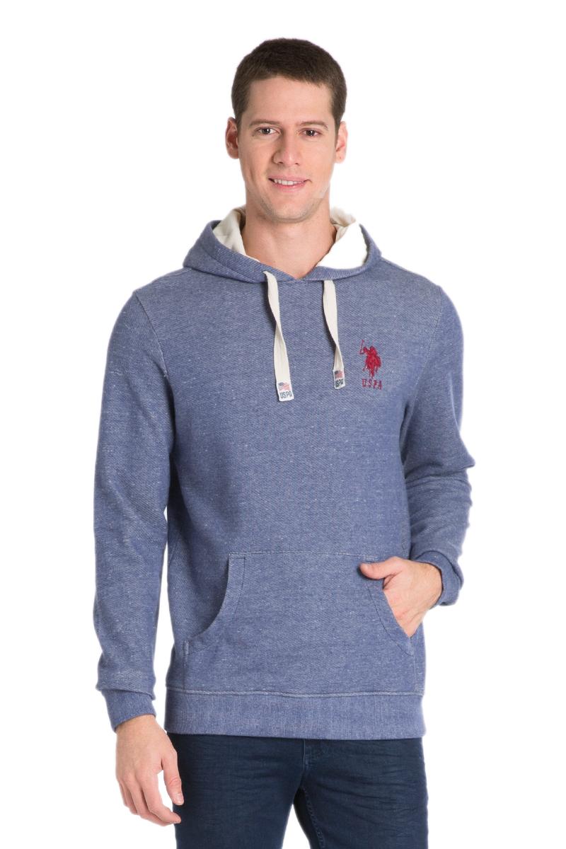 Толстовка мужская U.S. Polo Assn., цвет: синий. G081GL0820HEROS_VR028. Размер M (50)G081GL0820HEROS_VR028Уютная толстовка с капюшоном и длинными рукавами выполнена из натурального хлопка. Спереди модель дополнена карманом кенгуру.