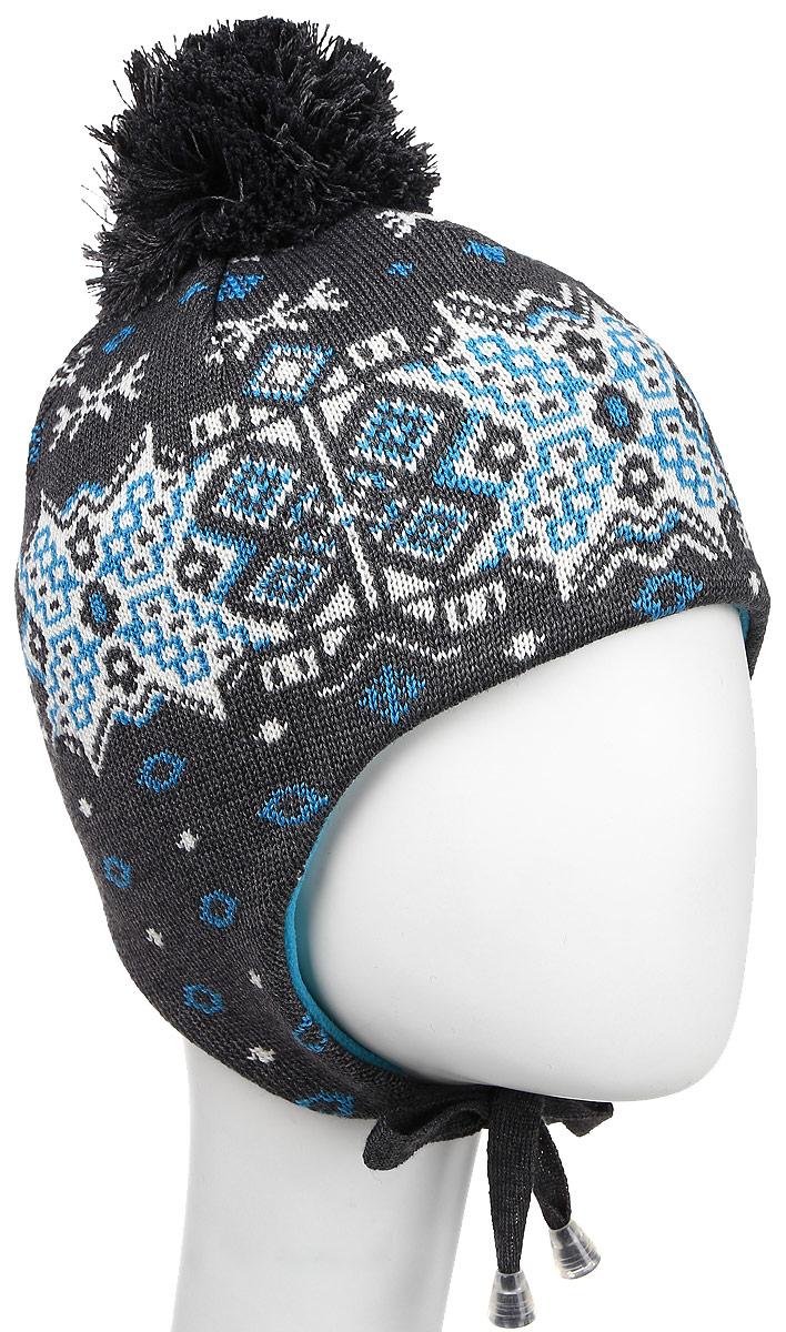 Шапка Kama Alpine Beanies, цвет: серый, белый, голубой. A66_111. Размер универсальныйA66_111Стильная шапка Kama Alpine Beanies дополнит ваш наряд и не позволит вам замерзнуть в холодное время года. Шапка выполнена из шерсти и акрила, что позволяет ей великолепно сохранять тепло и обеспечивает высокую эластичность и удобство посадки. Внутри - флисовая подкладка. Дополнена модель завязками, которые фиксируются под подбородком. Оформлено изделие интересным узором и большим помпоном на макушке. Такая шапка составит идеальный комплект с модной верхней одеждой.