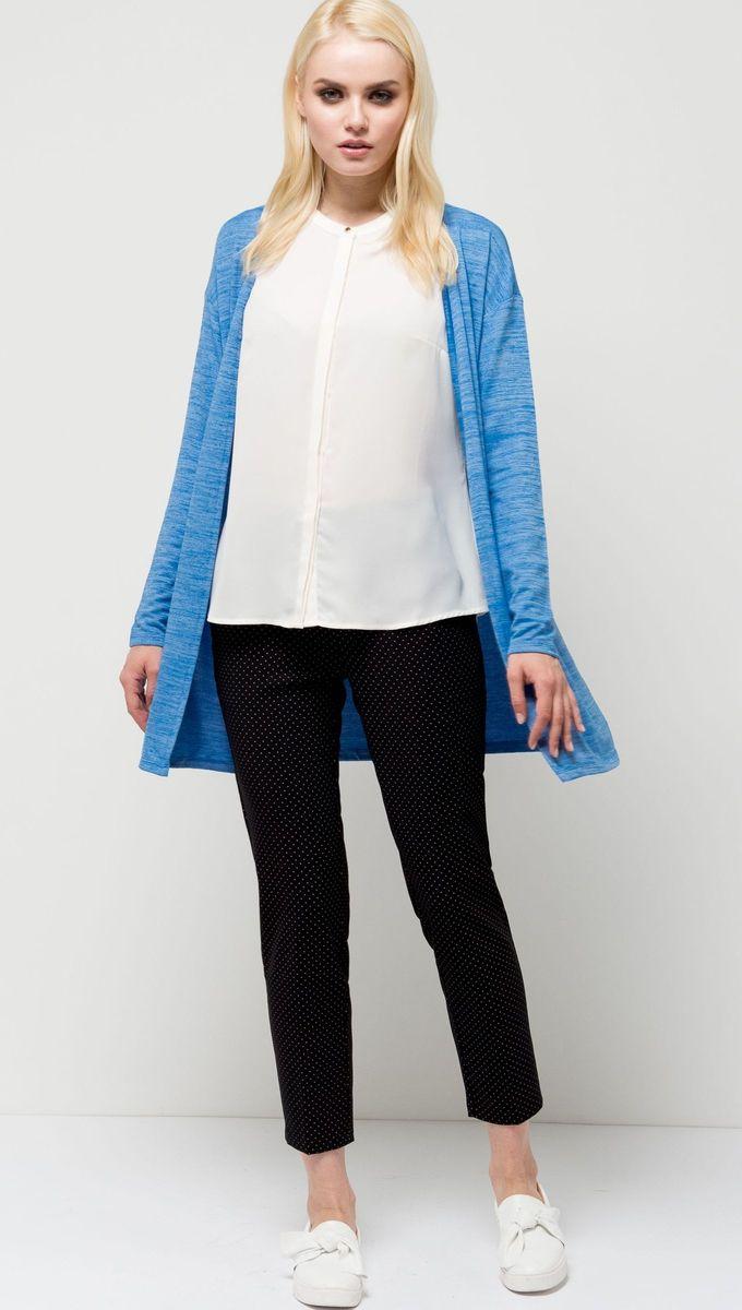 Кардиган женский Sela, цвет: синий. CNk-113/1106-7131. Размер S (44)CNk-113/1106-7131Лаконичный женский кардиган Sela выполнен из качественного трикотажа меланжевого цвета. Удлиненная модель полуприлегающего силуэта со спущенным плечом подойдет для офиса, прогулок и дружеских встреч и станет отличным дополнением гардероба. Мягкая эластичная ткань на основе полиэстера и вискозы комфортна и приятна на ощупь.