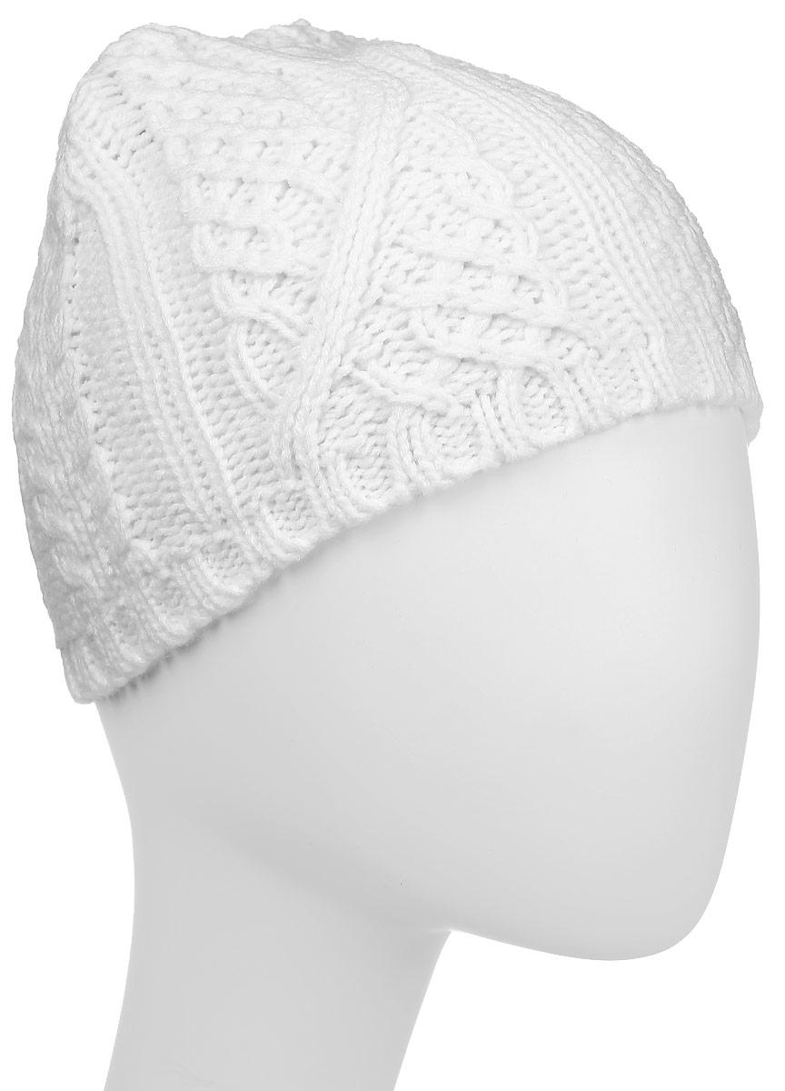 Шапка Ignite, цвет: белый. 303301. Размер 54/61303301Стильная шапка Ignite отлично дополнит ваш образ в холодную погоду. Модель крупной фактурной вязки, выполненная из 100%-го акрила, прекрасно сохраняет тепло .Такая модель комфортна и приятна на ощупь, она великолепно подчеркнет ваш вкус.Теплая шапка Ignite станет отличным дополнением к вашему осеннему или зимнему гардеробу!
