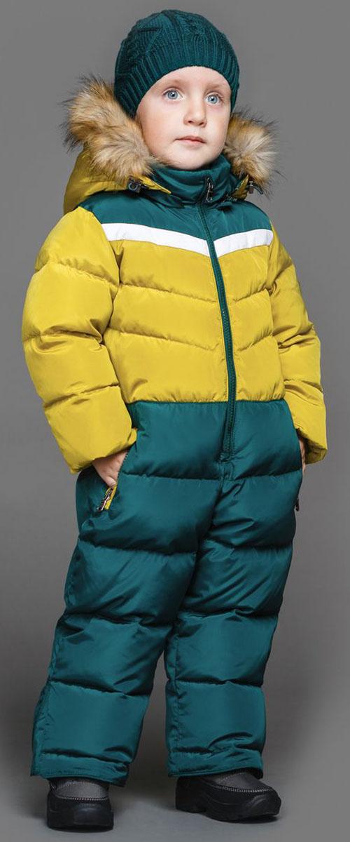Комбинезон для мальчика Ёмаё, цвет: горчичный, зеленый. 36-103. Размер 11036-103