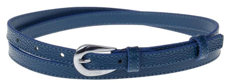 Ремень женский Dispacci, цвет: темно-синий. AR1155. Размер 90 смAR1155Ремень женский Dispacci выполнен из натуральной кожи. Классический ремень, интересная пряжка. Цвет фурнитуры серебро. Длину ремня можно регулировать.