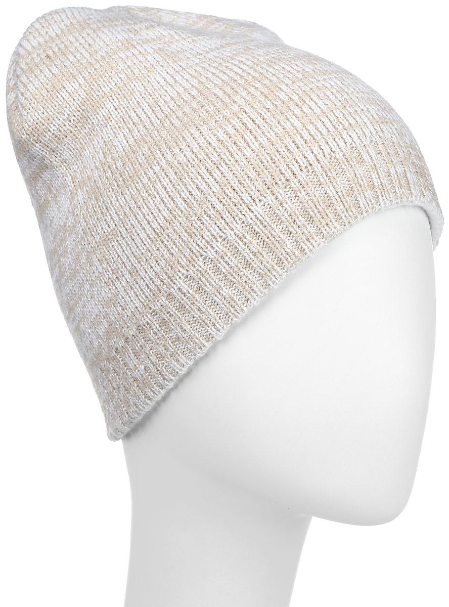 Шапка Converse Twisted Knit Beanie, цвет: бежевый, молочный. 527468. Размер универсальный527468Стильная вязаная шапка Converse Twisted Knit Beanie дополнит ваш наряд и не позволит вам замерзнуть в прохладное время года. Шапка выполнена из высококачественного акрила. Модель понизу связана резинкой. Спереди шапка оформлена фирменной нашивкой.