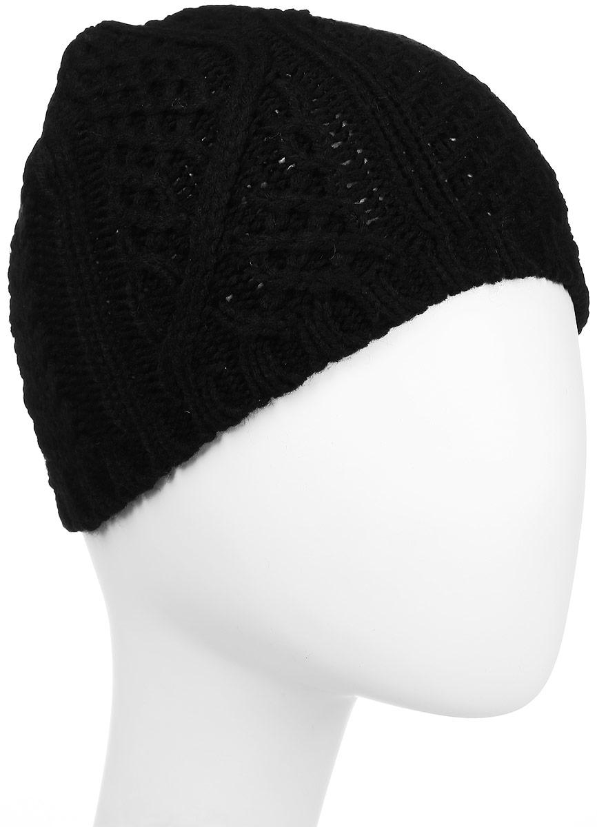 Шапка Ignite, цвет: черный. 303301. Размер 54/61303301Стильная шапка Ignite отлично дополнит ваш образ в холодную погоду. Модель крупной фактурной вязки, выполненная из 100%-го акрила, прекрасно сохраняет тепло .Такая модель комфортна и приятна на ощупь, она великолепно подчеркнет ваш вкус.Теплая шапка Ignite станет отличным дополнением к вашему осеннему или зимнему гардеробу!