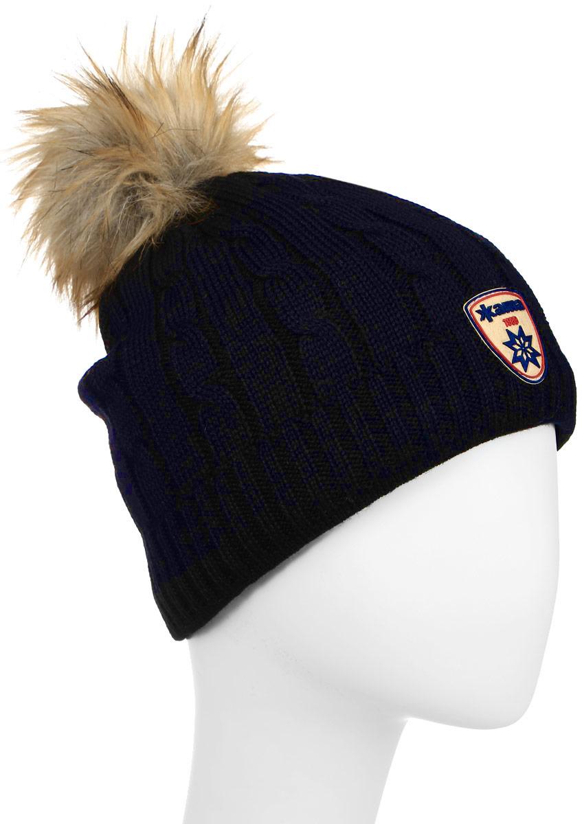 Шапка Kama Fashion Beanies, цвет: синий. A75_108. Размер универсальныйA75_108Теплая шапка с помпоном, с внутренней стороны шапки флисовая повязка для лучшего сохранения тепла.