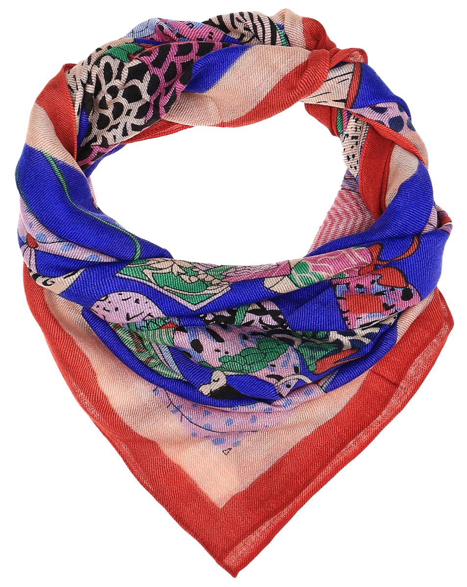 Платок женский Dispacci, цвет: синий. 4705ZI. Размер 130 см х 130 см4705ZIЭлегантный платок Dispacci выполнен из шерсти с добавлением вискозы. Оформлена модель оригинальным принтом.