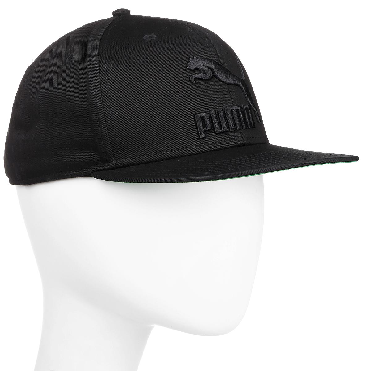Бейсболка мужская Puma Ls Colourblock Snapback, цвет: черный. 05294203. Размер универсальный052942_03Стильная бейсболка Puma LS ColourBlock SnapBack идеально подойдет для прогулок, занятий спортом и отдыха.Бейсболка выполнена из 100% хлопка, снабжена впитывающей внутренней отделкой и имеет плотный плоский козырек. Модель дополнена специальными отверстиями, обеспечивающими необходимую вентиляцию. Бейсболка на фронтальной части декорирована вышитым объемным логотипом PUMA, а застежка сзади имеет тканый ярлык с символикой PUMA. Объем бейсболки регулируется при помощи пластиковой застежки на кнопках. Такая бейсболка станет отличным аксессуаром и дополнит ваш повседневный образ.