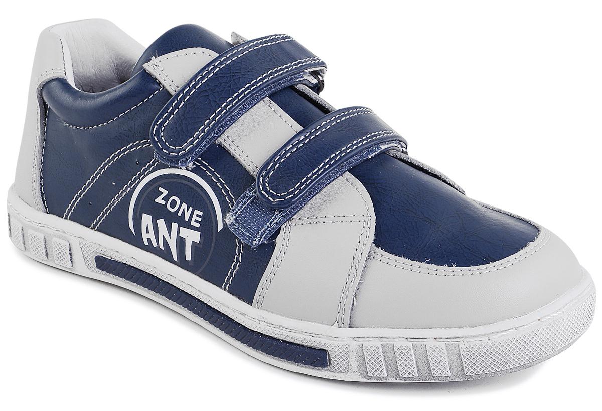 Полуботинки для мальчика Зебра, цвет: синий, бежевый. 9441-5. Размер 37,59441-5Полуботинки от фирмы Зебра выполнены из натуральной и искусственной кожи. Застежки-липучки обеспечивают надежную фиксацию обуви на ноге ребенка. Подкладка и стелька из текстиля гарантируют комфорт. Подошва с рифлением обеспечивает идеальное сцепление с любыми поверхностями.