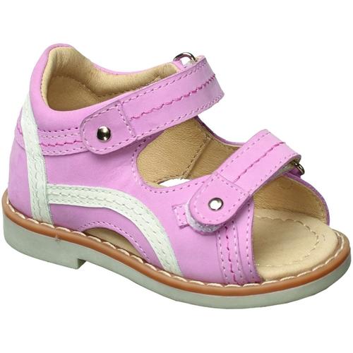 Сандалии для девочки Зебра, цвет: розовый. 10450-9. Размер 2110450-9Сандалии от Зебра выполнены из натуральной кожи. Внутренняя поверхность и стелька из натуральной кожи комфортны при ходьбе. Стелька дополнена супинатором, который обеспечивает правильное положение ноги ребенка при ходьбе и предотвращает плоскостопие. Ремешок с застежкой-липучкой позволяет прочно зафиксировать ножку ребенка. Ортопедический каблук Томаса укрепляет подошву под средней частью стопы и препятствует ее заваливанию внутрь.