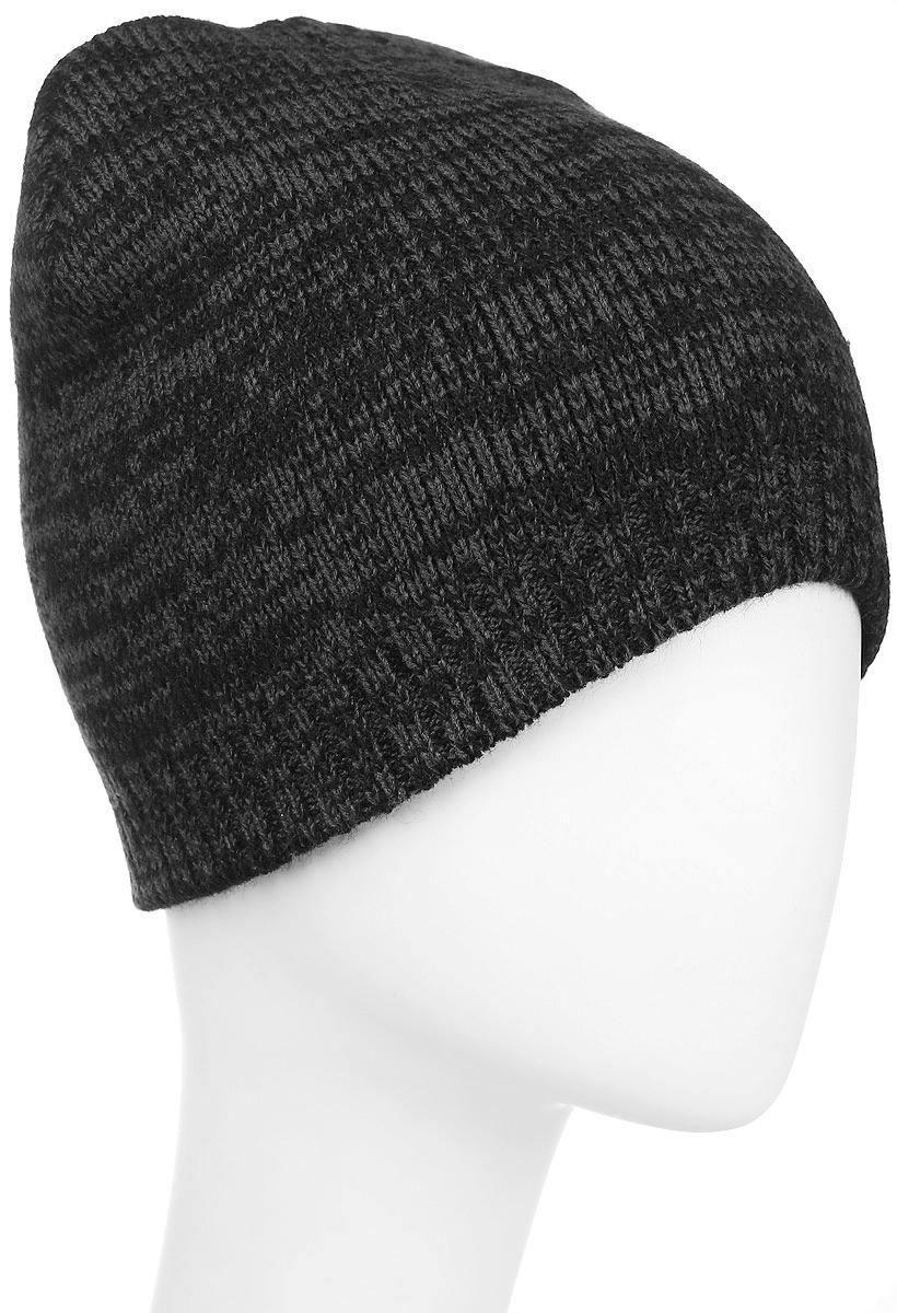 Шапка Converse Twisted Knit Beanie, цвет: черный, темно-серый. 527482. Размер универсальный527482Стильная вязаная шапка Converse Twisted Knit Beanie дополнит ваш наряд и не позволит вам замерзнуть в прохладное время года. Шапка выполнена из высококачественного акрила. Модель понизу связана резинкой. Спереди шапка оформлена фирменной нашивкой.