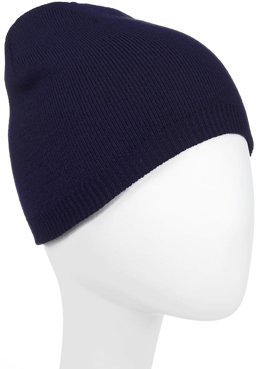 Шапка Converse Core Knit Beanie, цвет: темно-синий. 527604. Размер универсальный527604Стильная вязаная шапка Converse Core Knit Beanie дополнит ваш наряд и не позволит вам замерзнуть в прохладное время года. Шапка выполнена из высококачественного акрила. Модель понизу связана резинкой. Спереди шапка оформлена фирменной нашивкой.