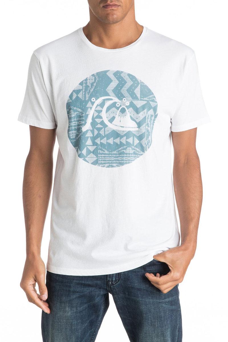 Футболка мужская Quiksilver, цвет: белый. EQYZT04325-WBB0. Размер XL (54)EQYZT04325-WBB0Мужская футболка Quiksilver изготовлена из качественного материала. Модель выполнена с круглой горловиной и короткими рукавами.