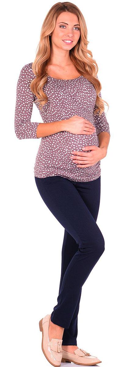 Блузка для беременных и кормящих Nuova Vita, цвет: светло-коричневый, молочный. 1304.08 N.V.. Размер 421304.08 N.V.Удобная, мягкая, элегантная блузка для беременных и кормящих Nuova Vita выполнена из высококачественного комбинированного материала. Очаровательная блузка станет стильным дополнением вашего образа.