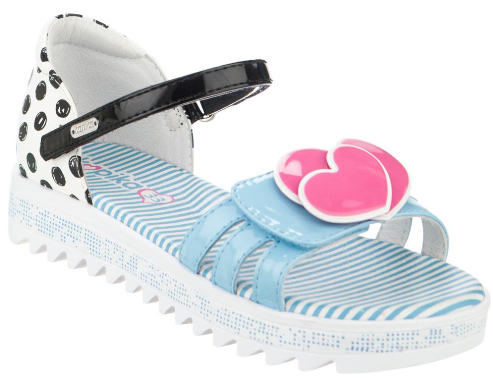 Босоножки для девочки Kapika, цвет: белый, голубой. 34039п-1. Размер 3834039п-1Восхитительные босоножки от Kapika не оставят равнодушной вашу юную модницу!Модель с закрытым задником изготовлена из искусственной кожи. Удобные ремешки на застежках-липучках надежно фиксируют ножку вашей малышки. Внутренняя часть и стелька выполнены из натуральной кожи. Стелька дополнена супинатором. Максимально комфортная подошва обеспечивает отличное сцепление с поверхностью.