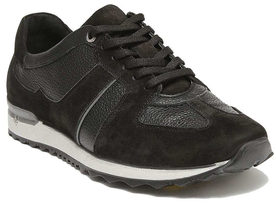 Кроссовки мужские Milana, цвет: черный. 151959-1-1101. Размер 44151959-1-1101Стильные мужские кроссовки Milana - отличный вариант на каждый день.Модель выполнена из натуральной кожи. Шнуровка надежно фиксирует обувь на ноге. Резиновая подошва с протектором гарантирует отличное сцепление с поверхностью. В таких кроссовках вашим ногам будет комфортно и уютно.