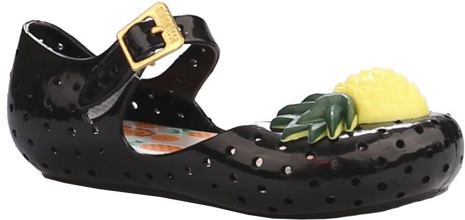 Туфли для девочки Vitacci, цвет: черный. 23008-3. Размер 2623008-3Туфли для девочки от Vitacci выполнены из силикона и дополнены перфорацией. Мыс модели оформлен декоративным элементом в виде ананаса. Ремешок с пряжкой надежно зафиксирует модель на ноге. Подошва из резины дополнена рифлением.
