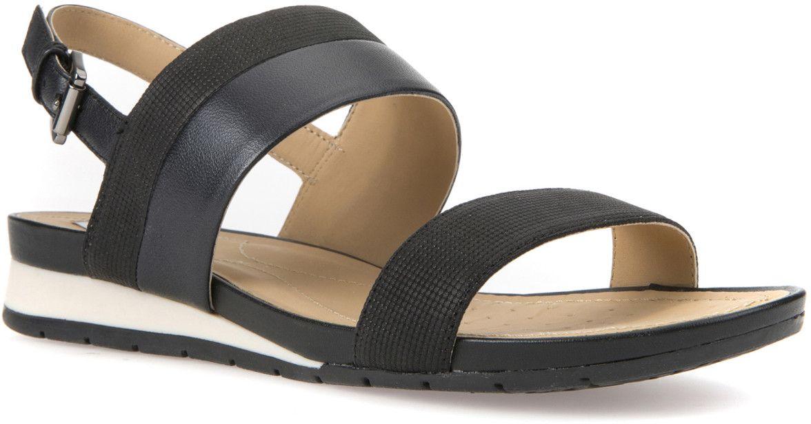 Босоножки женские Geox, цвет: черный. D7293C0SKBVC9999. Размер 37D7293C0SKBVC9999Модные босоножки Geox - незаменимая вещь в гардеробе каждой женщины. Модель выполнена из натуральной кожи. Ремешок с металлической пряжкой прочно зафиксирует изделие на ноге. Модные босоножки станут прекрасным завершением вашего летнего образа.