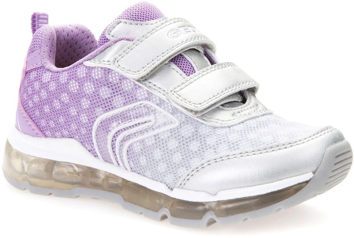 Кроссовки для девочки Geox, цвет: серебристый, светло-фиолетовый, белый. J7245B011AJC1285. Размер 34J7245B011AJC1285Модные кроссовки для девочки Geox покорят своим удобством. Модель выполнена из текстиля. Застежки-липучки обеспечивают плотное прилегание модели на ноге. Стильные кроссовки прекрасно впишутся в гардероб.