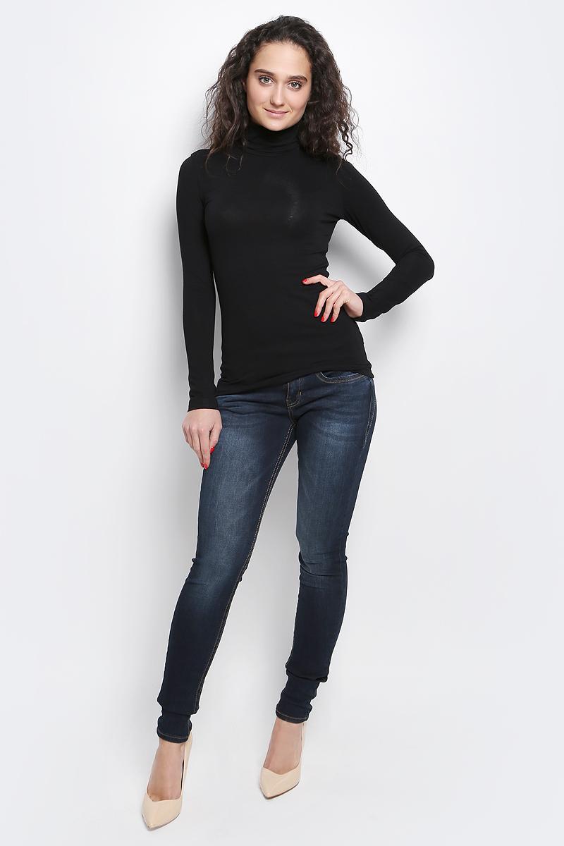 Водолазка женская Rocawear, цвет: черный. R041642. Размер L (48)R041642Женская водолазка Rocawear с длинными рукавами и воротником-гольф выполнена из эластичной вискозы. Изделие имеет комфортные эластичные швы и хорошо тянется.