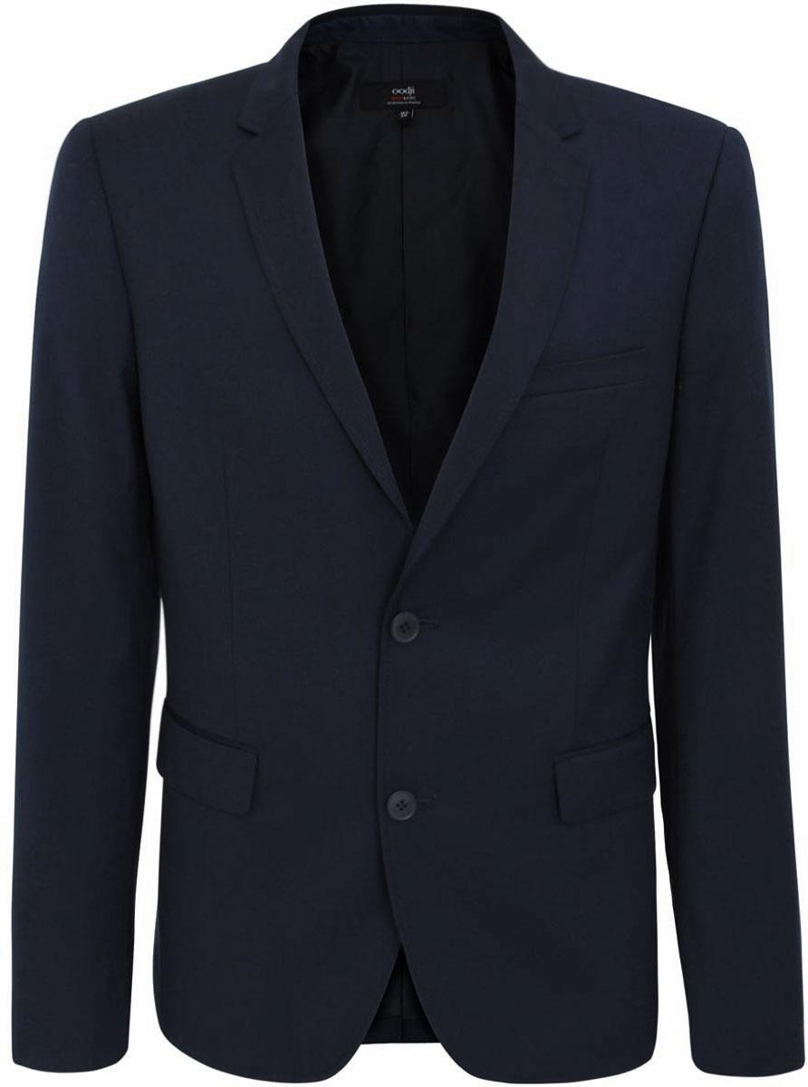 Пиджак мужская oodji Basic, цвет: черно-синий. 2B420011M/21929N/7900N. Размер 52-182 (52-182)2B420011M/21929N/7900N
