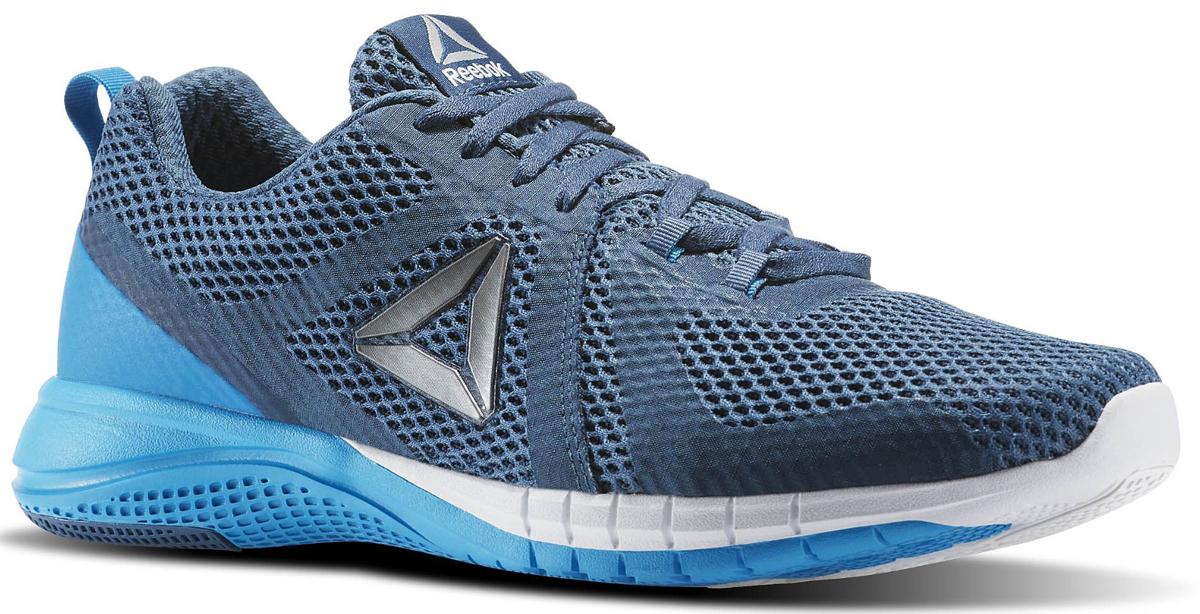 Кроссовки мужские для бега Reebok Print Run 2, цвет: синий. BD1917. Размер 10,5 (44)BD1917Кроссовки Print Run созданы специально для бега. Независимые подвижные элементы на подошве обеспечивают гибкость и амортизацию каждого шага. Эти универсальные кроссовки - отличный вариант как для любителей скорости, так и для поклонников размеренных пробежек. Легкий сетчатый верх обеспечивает вентиляцию, а поперечные вставки - надежную поддержку. Низкий дизайн не стесняет движений во время самых быстрых переходов. Промежуточная подошва, повторяющая рельеф стопы, из карбонизированного пеноматериала для непревзойденной амортизации. Каркас двойной плотности по внешнему периметру для стабильности. Вставки из углеродистой резины в области пятки для большей прочности. Независимые элементы в основных зонах подошвы для большей гибкости и амортизации. Небольшой жесткий задник, отлично фиксирующий положение пятки.