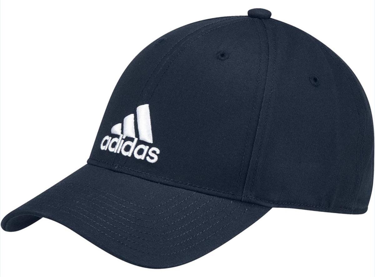 Бейсболка adidas 6P Cap Cotton, цвет: синий. S98152. Размер 58/60S98152Бейсболка adidas 6P Cap Cotton выполнена из натурального хлопка. Модель оформлена логотипом бренда.