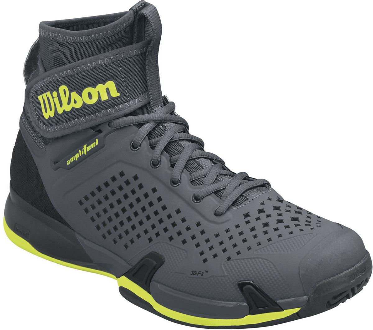 Кроссовки для тенниса мужские Wilson Amplifeel, цвет: темно-серый. WRS322840. Размер 9,5 (43) - Теннис