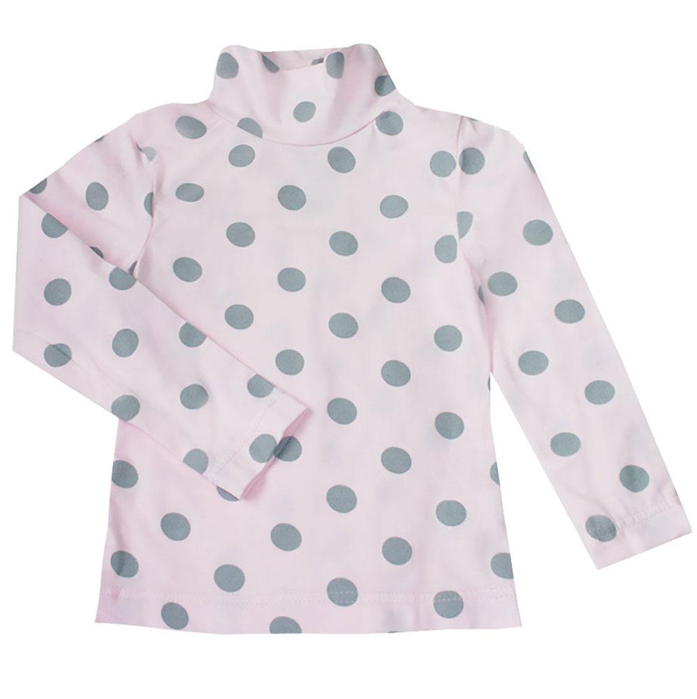 Водолазка для девочки КотМарКот Горох, цвет: розовый, серый. 13746. Размер 122, 7 лет13746Водолазка для девочки КотМарКот Горох с длинными рукавами и воротником-гольф выполнена из натурального хлопка. Изделие оформлено контрастным принтом в крупный горох.