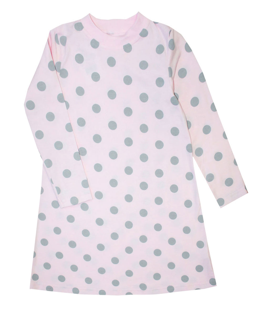 Платье для девочки КотМарКот Горох, цвет: розовый, серый. 21746. Размер 116, 6 лет21746Платье для девочки КотМарКот Горох выполнено из натурального хлопка.Модель средней длины с длинными рукавами имеет круглый вырез горловины, отделанный эластичной бейкой. Платье оформлено принтом в крупный горох.