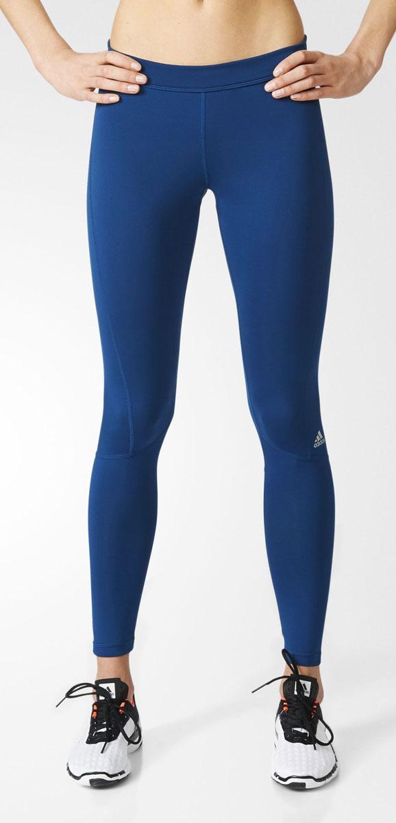 Леггинсы женские adidas Tf Long Tgt, цвет: синий. BK6117. Размер M (46/48)BK6117Леггинсы женские adidas Tf Long Tgt с компрессионной технологией techfit обеспечат необходимую поддержку мышц, которая положительно скажется на выносливости. Ткань с технологией climalite быстро и эффективно отводит влагу с поверхности кожи, поддерживая комфортный микроклимат. Крой с компрессионной технологией techfit фокусирует энергию мышц, обеспечивая заряд мощной энергии, улучшение выносливости и эффективности тренировки.