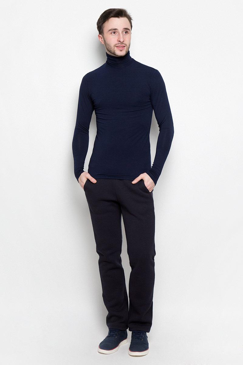 Водолазка мужская Rocawear, цвет: темно-синий. R0416S41. Размер XL (52)R0416S41Мужская водолазка Rocawear с длинными рукавами и воротником-гольф выполнена из эластичного хлопка. Изделие великолепно тянется и превосходно садится по фигуре.
