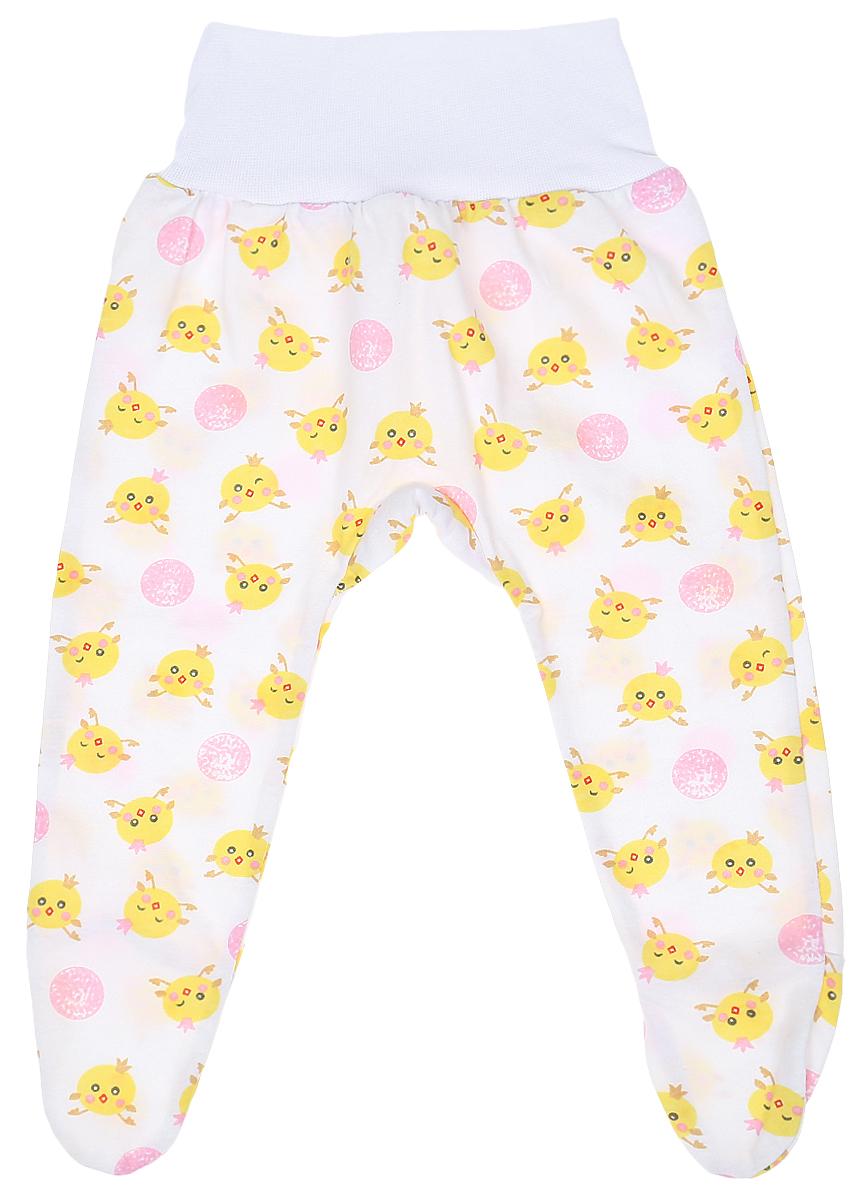 Ползунки детские Чудесные одежки, цвет: белый, розовый. 5207. Размер 745207Детские ползунки Чудесные одежки выполнены из натурального хлопка, благодаря чему великолепно пропускают воздух и обеспечивают комфорт и удобство, не раздражая нежную детскую кожу. Модель с закрытыми ножками и завышенной линией талии имеет широкий эластичный пояс. Ползунки оформлены принтом с изображением забавных цыплят.