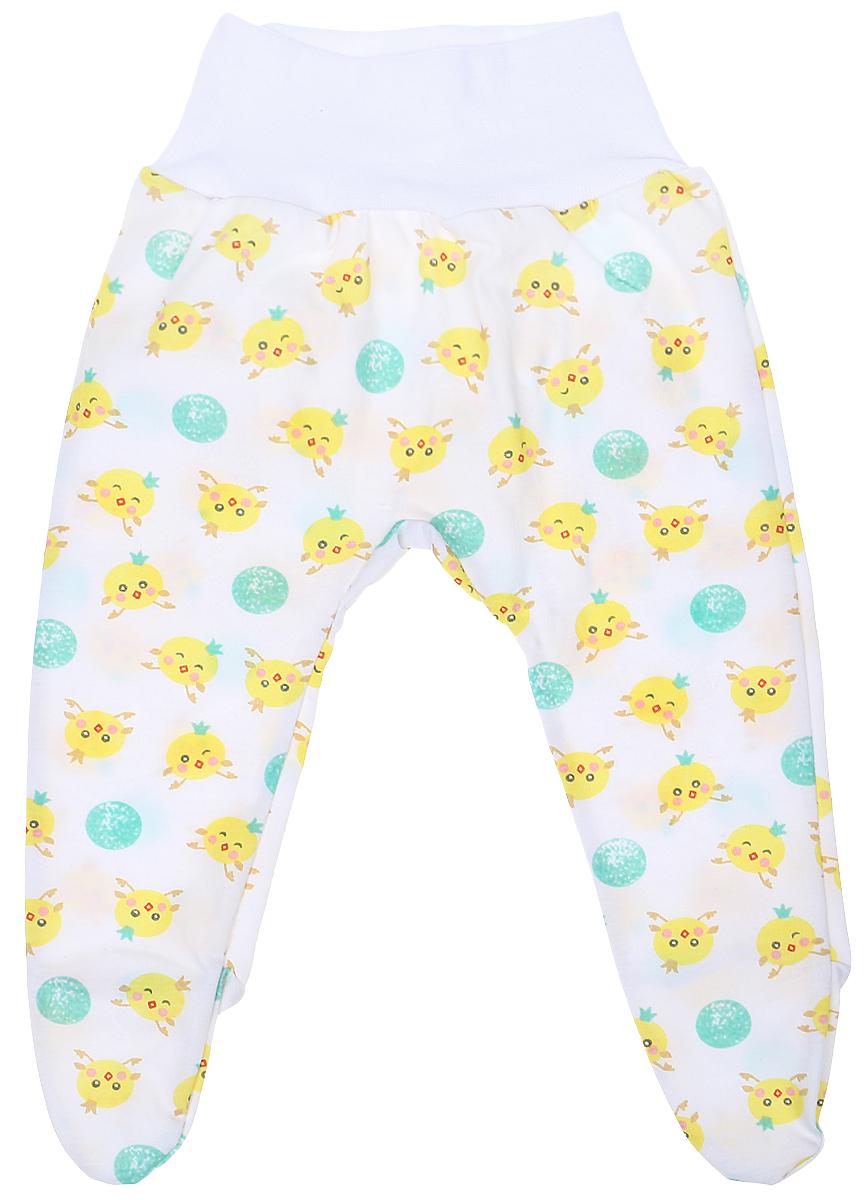 Ползунки детские Чудесные одежки, цвет: белый, салатовый. 5207. Размер 565207Детские ползунки Чудесные одежки выполнены из натурального хлопка, благодаря чему великолепно пропускают воздух и обеспечивают комфорт и удобство, не раздражая нежную детскую кожу. Модель с закрытыми ножками и завышенной линией талии имеет широкий эластичный пояс. Ползунки оформлены принтом с изображением забавных цыплят.