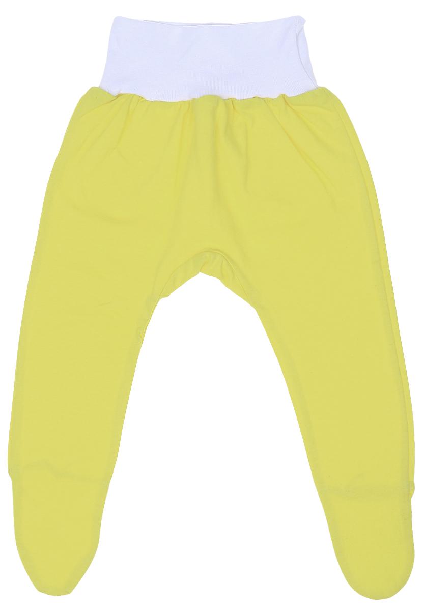 Ползунки детские Чудесные одежки, цвет: желтый. 5207. Размер 625207Детские ползунки Чудесные одежки выполнены из натурального хлопка, благодаря чему великолепно пропускают воздух и обеспечивают комфорт и удобство, не раздражая нежную детскую кожу. Модель с закрытыми ножками и завышенной линией талии имеет широкий эластичный пояс.