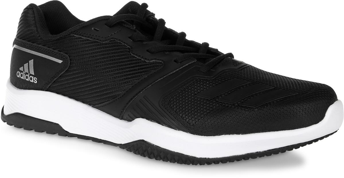 Кроссовки для фитнеса мужские adidas Gym Warrior 2 M, цвет: черный. S80681. Размер 12 (46)S80681Кроссовки для фитнеса adidas Gym Warrior 2 M выполнены из текстиля, искусственной кожи и полимера. Модель оформлена фирменными накладками. Шнурки надежно зафиксируют модель на ноге. Внутренняя поверхность из сетчатого текстиля комфортна при движении. Стелька выполнена из легкого ЭВА-материала с поверхностью из текстиля. Подошва изготовлена из высококачественной резины и дополнена рельефным рисунком.