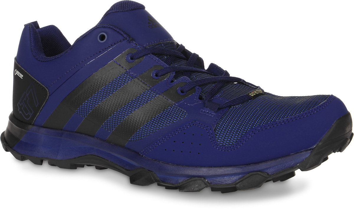 Кроссовки трекинговые мужские adidas Kanadia 7 Tr Gtx, цвет: темно-синий, черный. BB5429. Размер 11 (44,5)BB5429Кроссовки трекинговые adidas Kanadia 7 Tr Gtx выполнены из искусственной кожи и текстиля. Модель оформлена фирменными накладками. Шнурки надежно зафиксируют модель на ноге. Ярлычок на заднике упростит надевание модели. Внутренняя поверхность из сетчатого текстиля комфортна при движении. Стелька выполнена из легкого ЭВА-материала с поверхностью из текстиля. Подошва изготовлена из высококачественной резины и дополнена протектором.