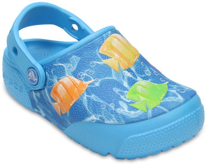Сабо детские Crocs, цвет: голубой. 204134-94V. Размер J3 (34/35)204134-94VСабо Crocs придутся вам по душе вашему ребенку. Рельефная поверхность верхней части подошвы комфортна при движении. Рифленое основание подошвы гарантирует идеальное сцепление с любой поверхностью. Такие сабо - отличное решение для каждодневного использования!