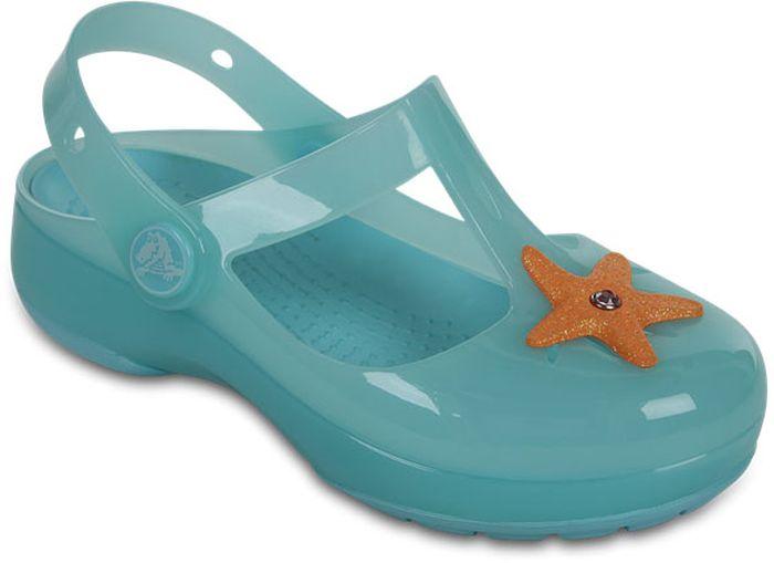 Сабо для девочки Crocs, цвет: голубой. 204034-426. Размер C4 (21)204034-426Сабо Crocs придутся вашему ребенку по душе. Рифленое основание подошвы гарантирует идеальное сцепление с любой поверхностью. Такие сабо - отличное решение для каждодневного использования!