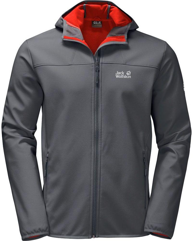 Куртка мужская Jack Wolfskin Northern Point, цвет: серый. 1304001-6116. Размер L (48/50)1304001-6116Куртка мужская Northern Point изготовлена из 100% полиэстера. Ткань дышащая, водонепроницаемая и непродуваемая. Модель застегивается на молнию, имеет длинные стандартные рукава с манжетами на резинке и воротник-стойку с капюшоном. По бокам расположены карманы на молнии.