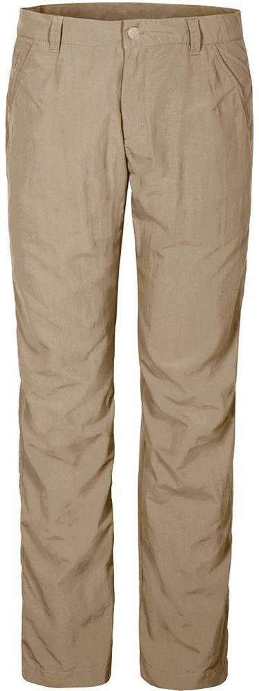 Брюки мужские Jack Wolfskin Kalahari Pants M, цвет: бежевый. 1503321-5605. Размер 461503321-5605Брюки мужские Kalahari Pants M выполнены из ткани SUPPLEX (100% полиамид). Брюки имеют множество преимуществ, особенно практичных в путешествии по жарким регионам: они легкие, защищают от ультрафиолетового излучения (UPF 40+) и упаковываются очень компактно. К тому же материал очень быстро сохнет. Модель застегивается на ширинку с молнией и пуговицу в поясе. Пояс дополнен шлевками для ремня. Брюки имеют два втачных кармана спереди и два кармана сзади. Kalahari Pants M - сочетание нужных качеств для путешествий, летних походов и будней.
