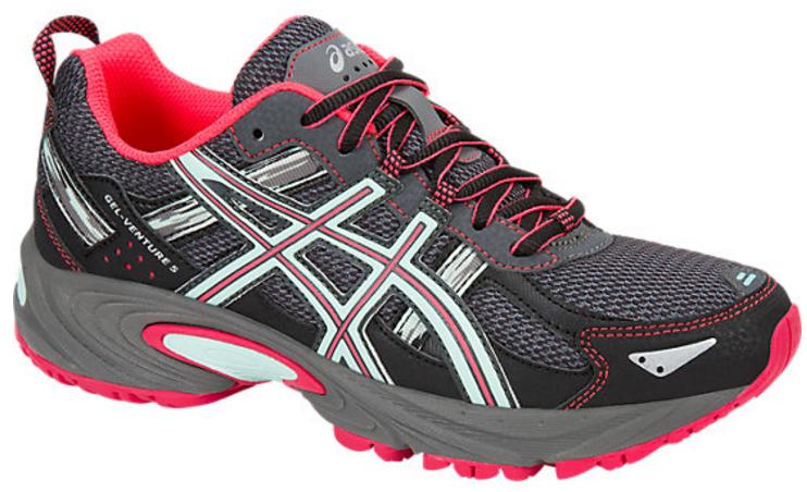 Кроссовки для бега женские Asics Gel-Venture 5, цвет: серый, розовый. T5N8N-9720. Размер 6H (36)T5N8N-9720Кроссовки Asics Gel-Venture 5 зарекомендовали себя как отличные внедорожники и просто универсальные кроссовки. В первую очередь предназначены для бега по пересеченной местности, а также хорошо ведут себя и при использовании на асфальтовом покрытии. AHAR+ - резина повышенной износостойкости, которая продлевает срок службы обуви. GEL в пятке отлично справляется с функцией поглощения ударов и снижения нагрузки на суставы.