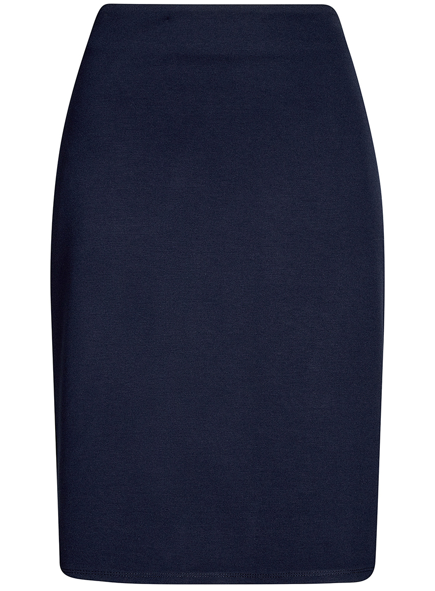 Юбка oodji Collection, цвет: темно-синий. 24101048B/45176/7900N. Размер XL (50)24101048B/45176/7900NКлассическая юбка-карандаш выполнена из высококачественного материла. Сбоку застегивается на потайную застежку-молнию.